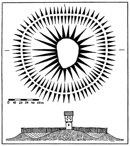 Gródek w Borucinie (G. Fock)
